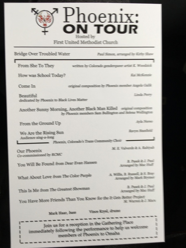 Phoenix on Tour program