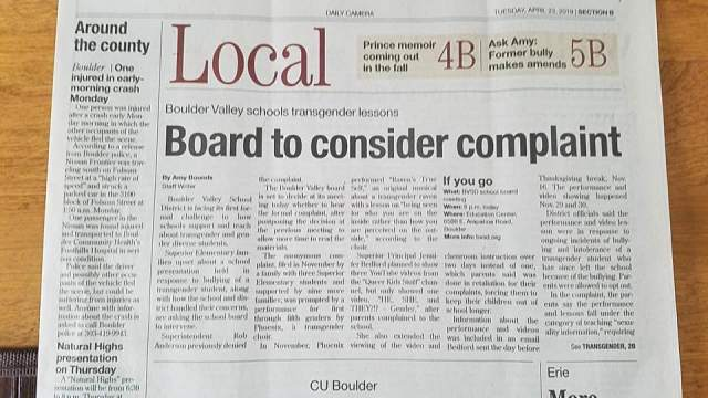 BVSD controversy headline